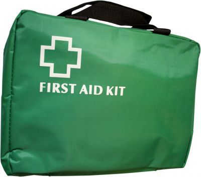 Empty First Aid Fold Out Bag - Green - Large